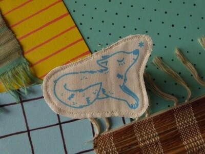 Broche artisanale - ani'cute Loup / Wolf