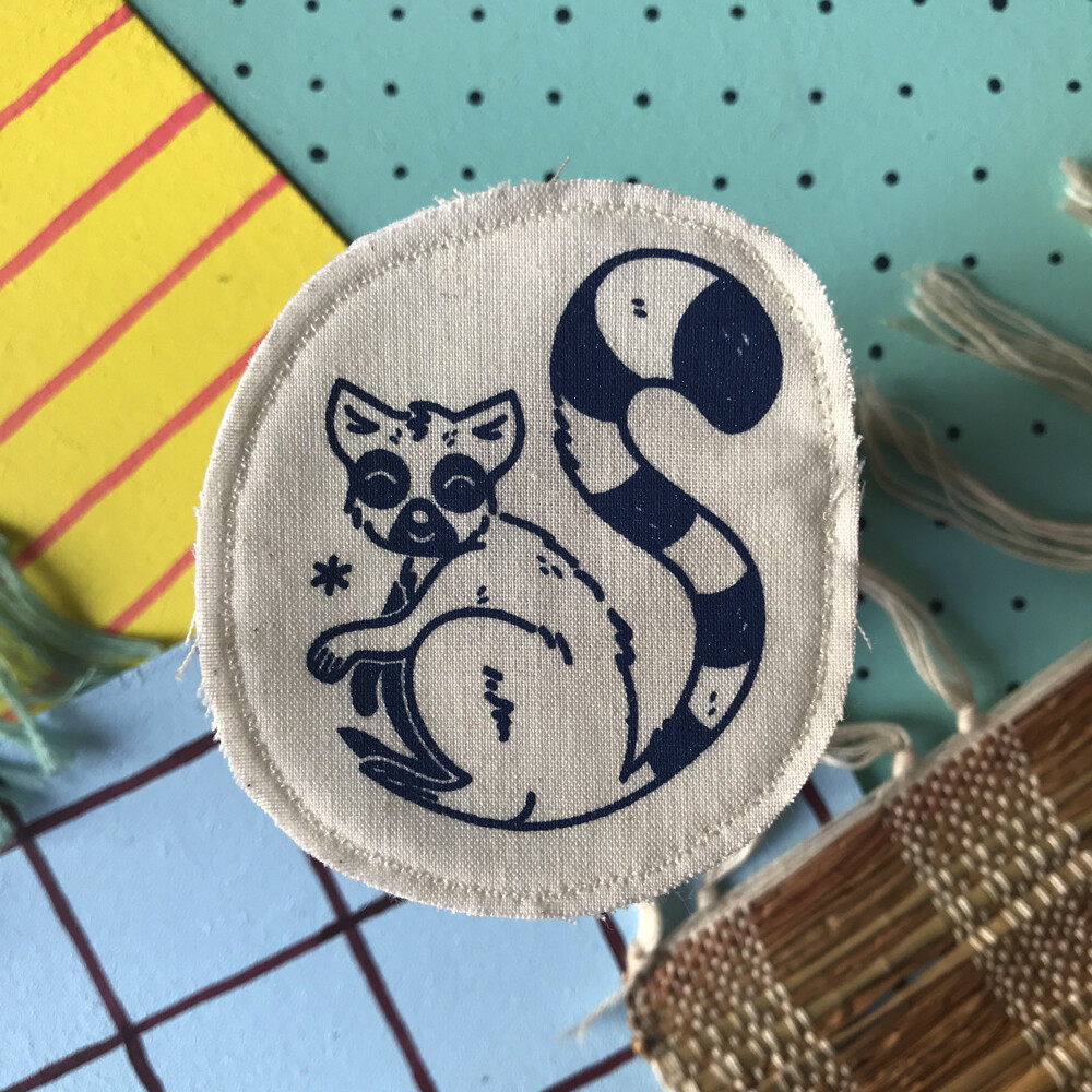 Broche artisanale - ani'cute Lémurien Maki Catta / Ring tailed lemur