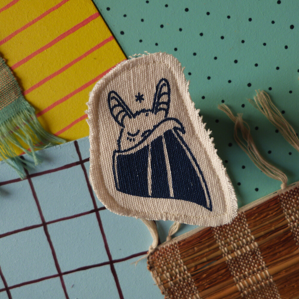 Broche artisanale - ani'cute Chauve-Souris / Bat