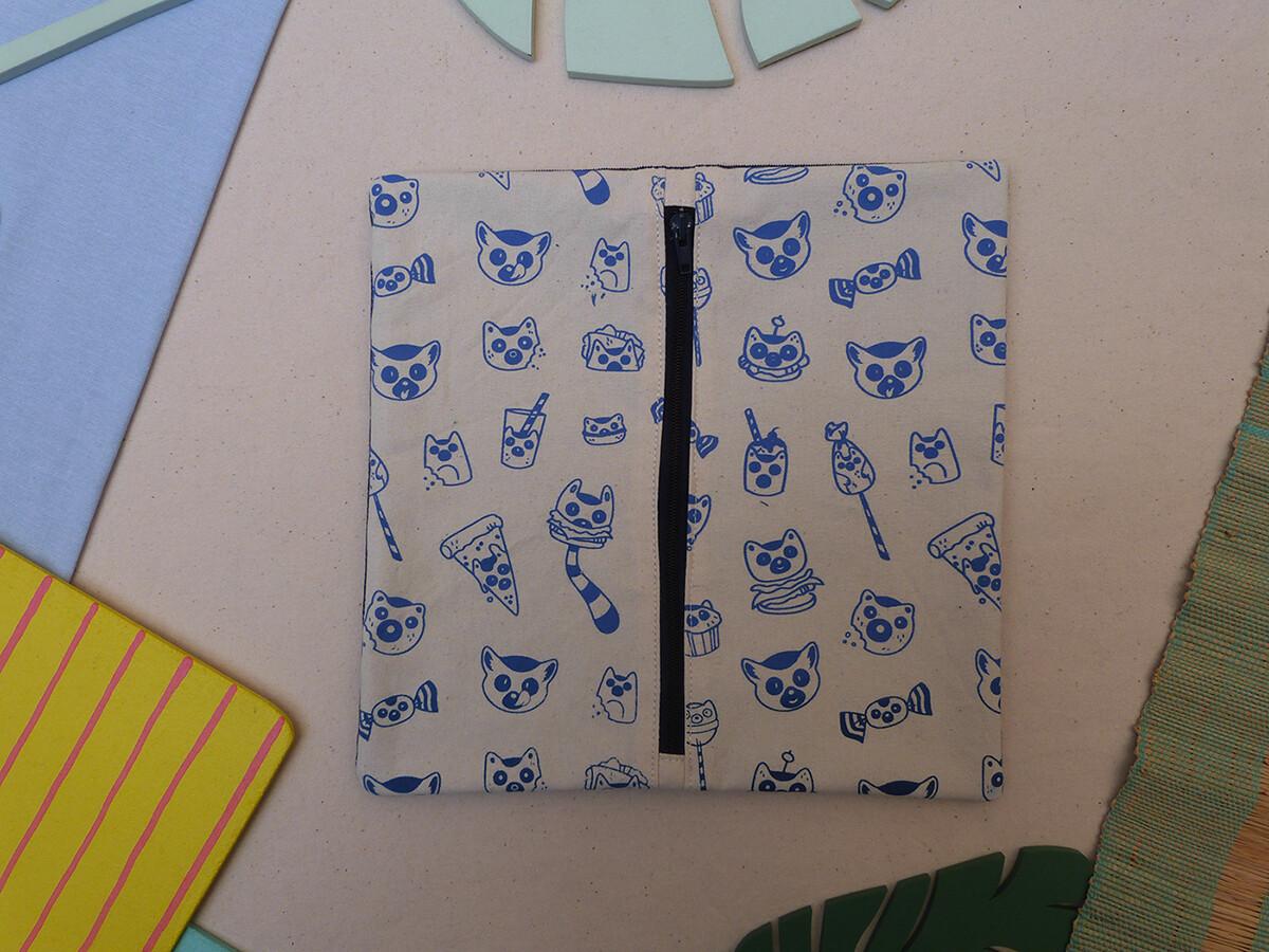 Partie interchangeable ZIP LemurBouffe - bleue foncée