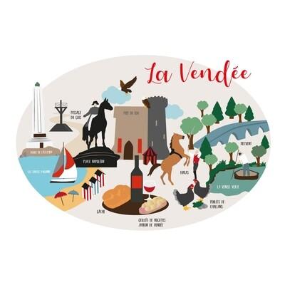 Carte / Affiche Vendée