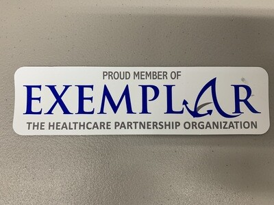 Exemplar Network Window Sticker