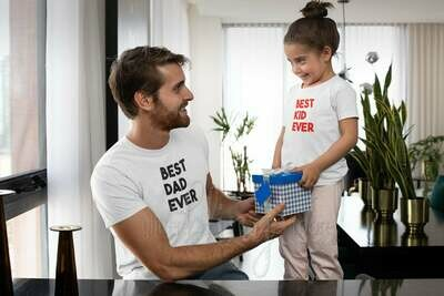 Best dad ever, best kid ever, father son, father daughter shirt