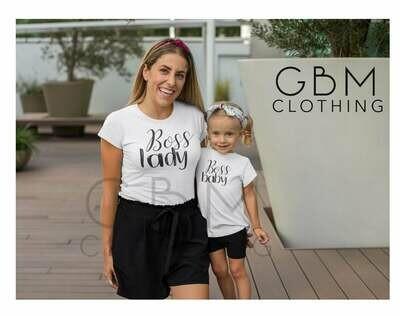 Boss Lady / Boss Baby matching shirt, mother daughter matching shirt