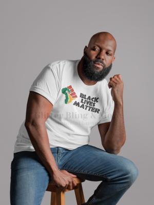 Black lives matter African fist