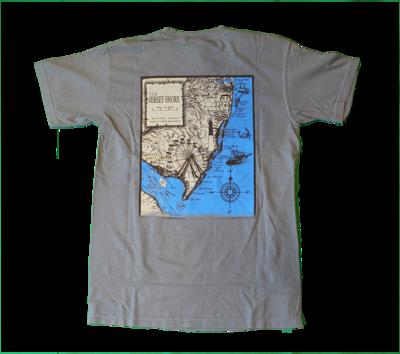Adult Jersey Shore Map T-Shirt