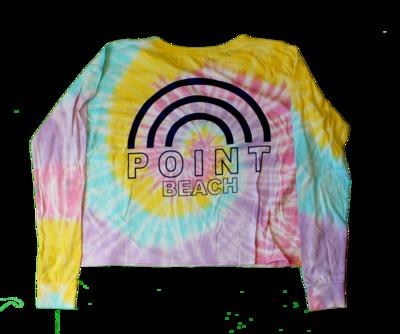 Adult Point Beach Tie Dye Crop Top