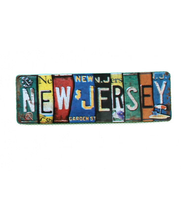 New Jersey License Plate Magnet