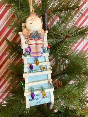 Santa in Lifeguard Chair Ornament