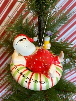 Santa Inner Tube Ornament