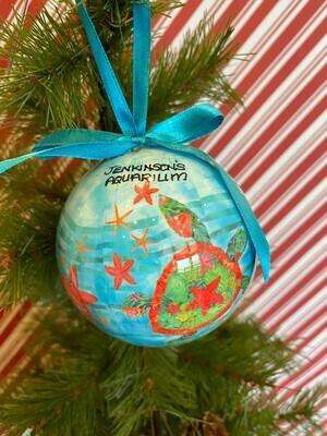 Sea Turtle Ball Ornament