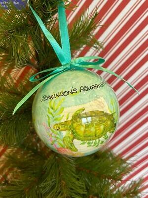 Summer Sea Turtle Ball Ornament