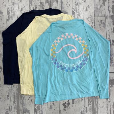 Adult Pocket Wave Long Sleeve T-Shirt
