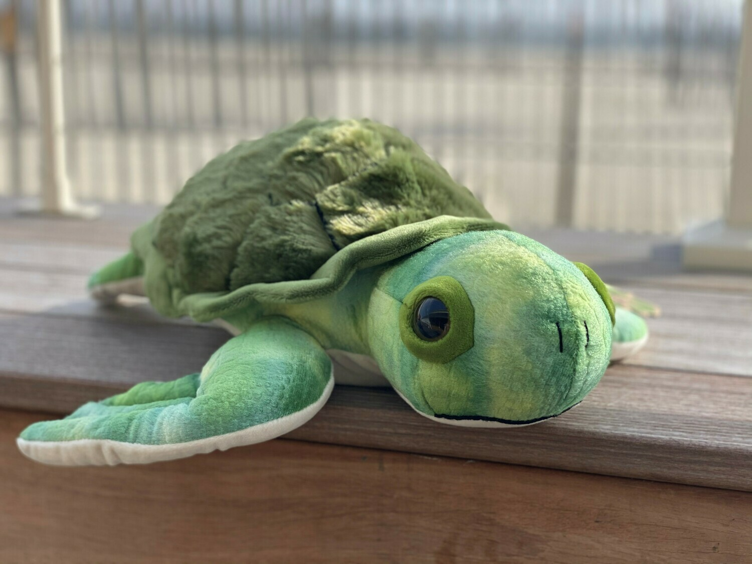 Sea Turtle Plush - Large with Green Shell