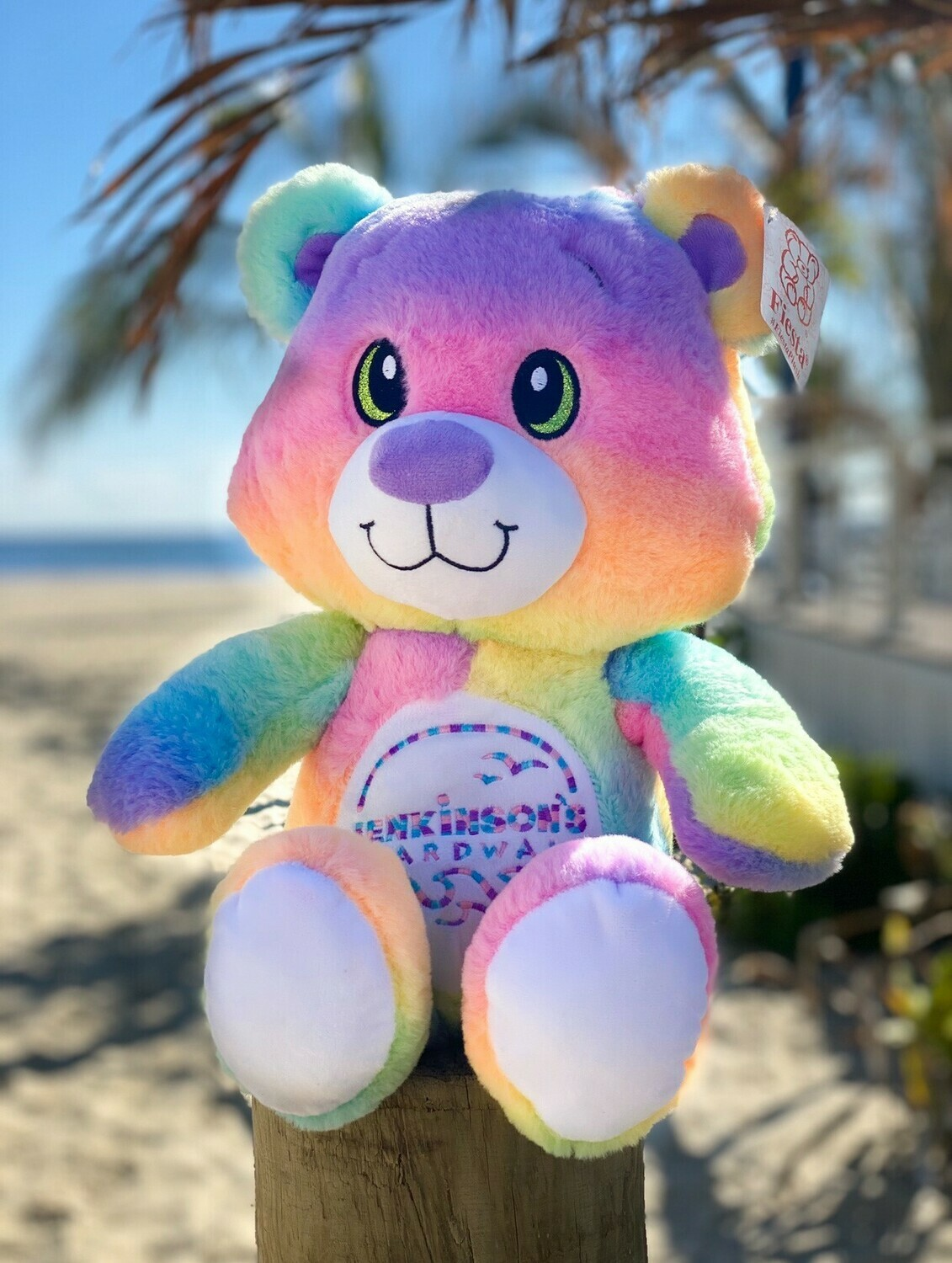 Jenkinson's Rainbow Plush Bear
