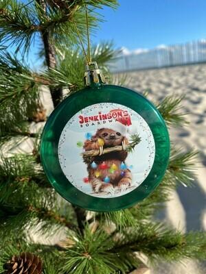 Christmas Lights Sloth Ornament