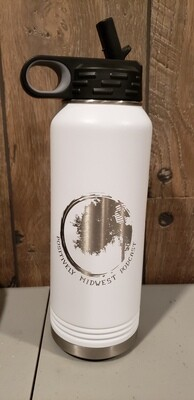 32 OZ Stainless Steel Positively Midwest Water Bottle
