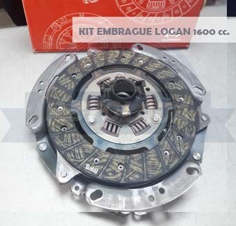 KIT EMBRAGUE 200 MM LOGAN FASE I - FASE II 1600 (P+D+R)