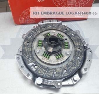 KIT EMBRAGUE 180 MM LOGAN 1400 (P+D+R)