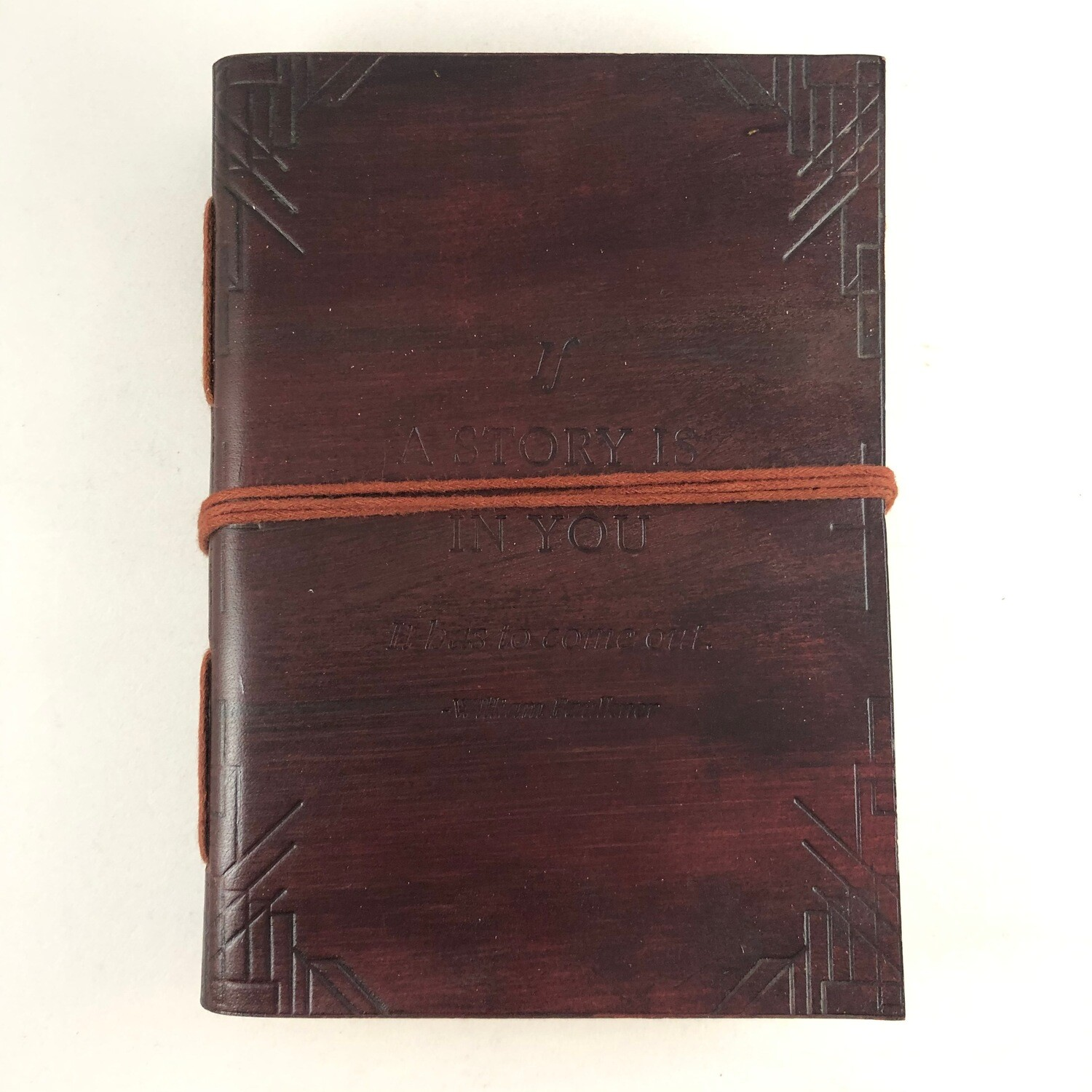 """If A Story"" Handmade Leather Journal (Brown)"