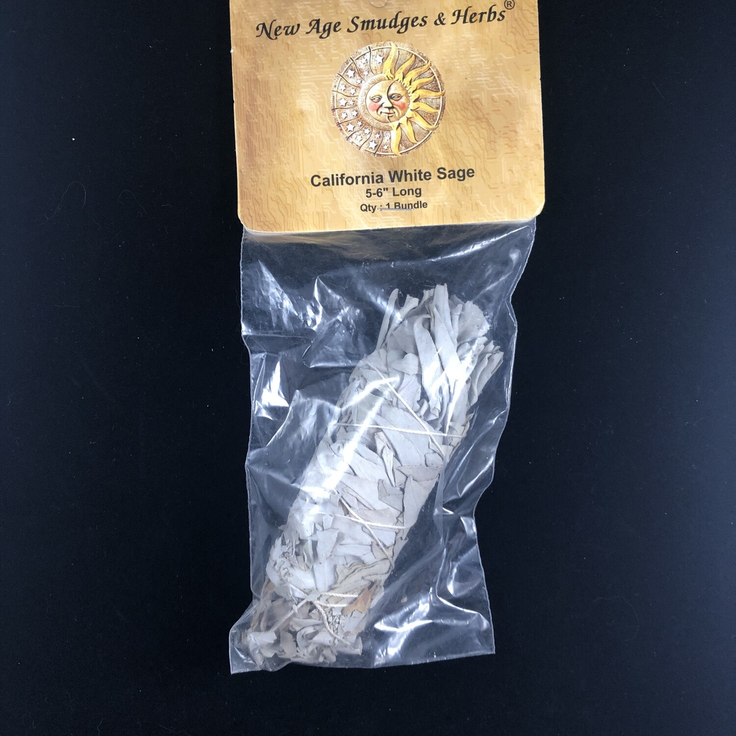 "Medium California White Sage 5-6"" Packaged"