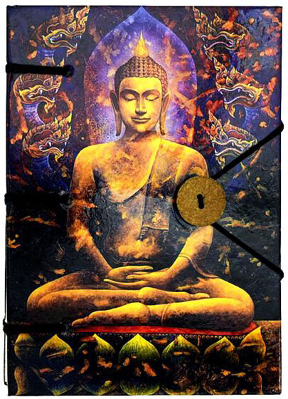 Handmade Journal: Golden Buddha