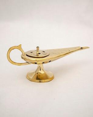 Aladdin Lamp, Brass, 4 inches long