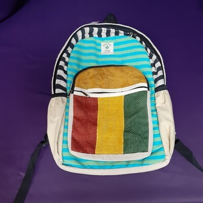 Hemp Backpack: Rasta (NEW)