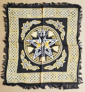 Altar Cloth 18x18 inch: New Pentacle with Goddess
