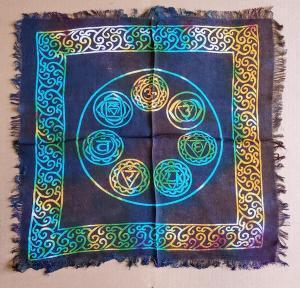 Altar Cloth 18x18 inch: Seven Chakras (NEW)