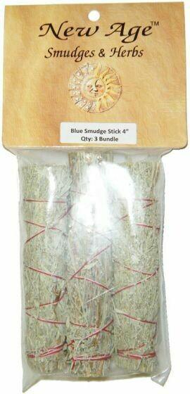(3-pack) Blue Sage Smudges, 4 inch, packaged