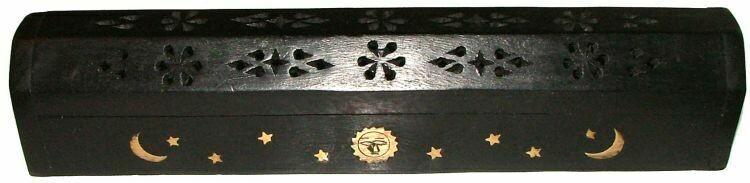 BLACK Coffin Incense Burner