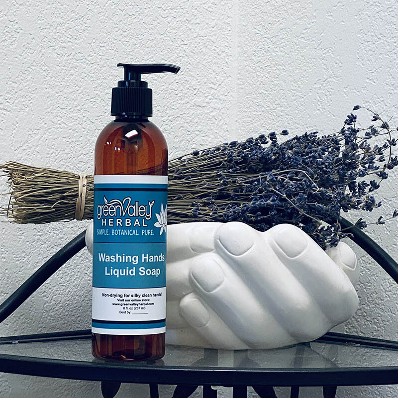 Washing Hands Liquid Soap
