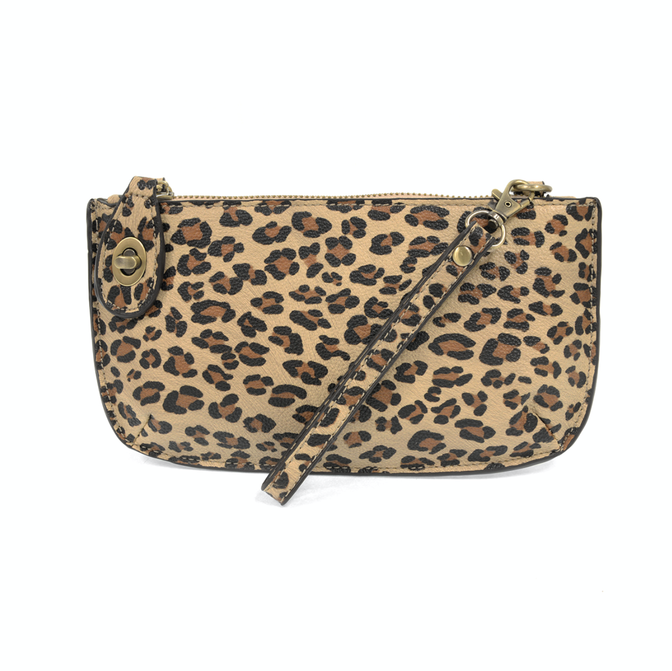 Leopard Mini Crossbody Wristlet Clutch