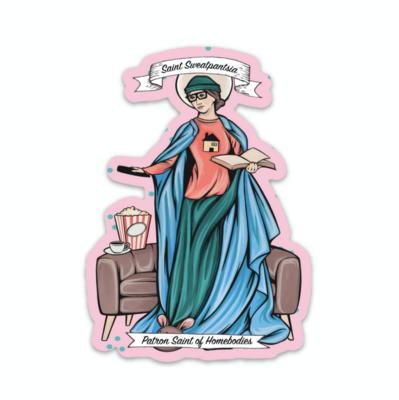 Saint Sweatpantsia Sticker