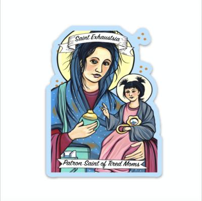 Saint Exhaustia Sticker