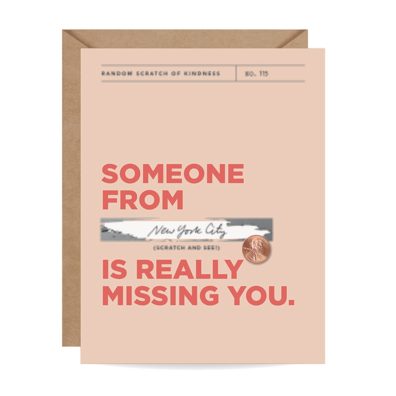 Really Missing You Scratch-Off Card