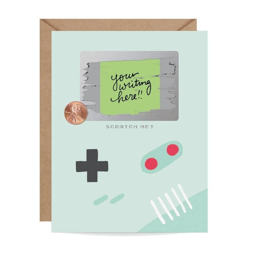 Gamer Scratch-Off Card