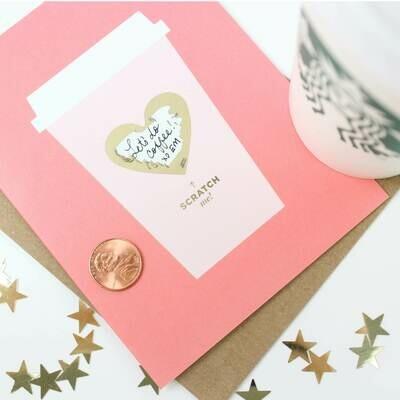 Coffee Love Scratch-Off Card
