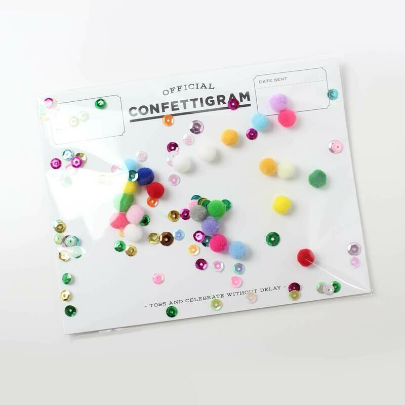Pom Poms Confettigram