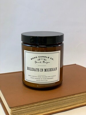 BoHo Holidays in Michigan Candle