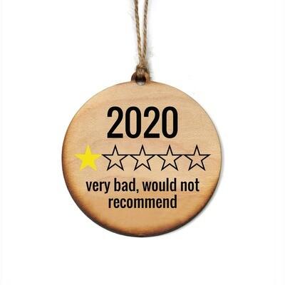 2020 Rating Wood Ornament