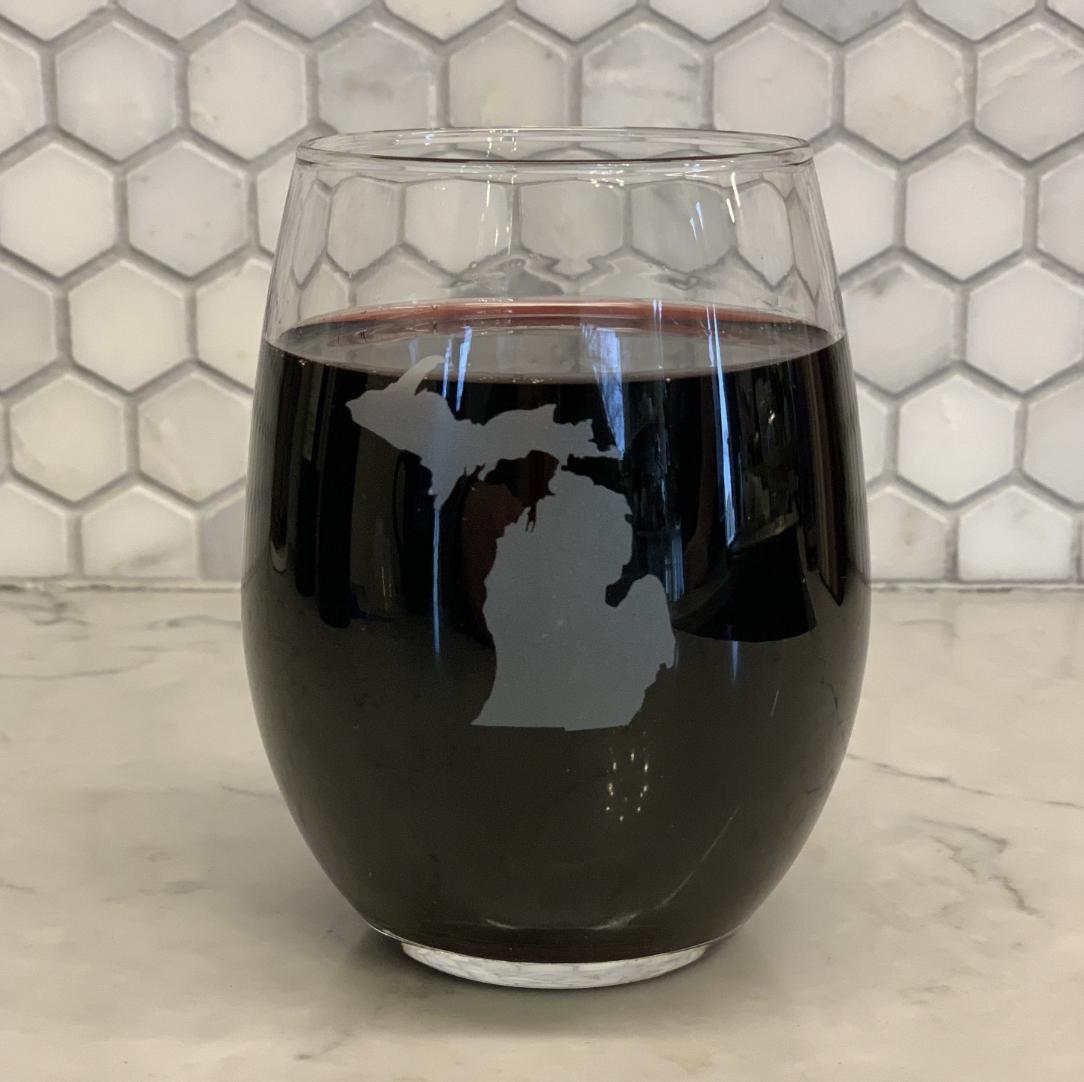 BoHo Michigan Wine Glass