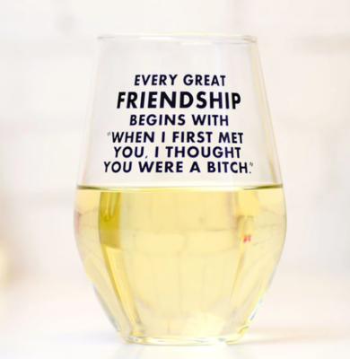 Great Friendship Wine Glass