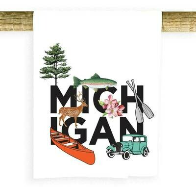 Potluck Press Michigan Charms Towel