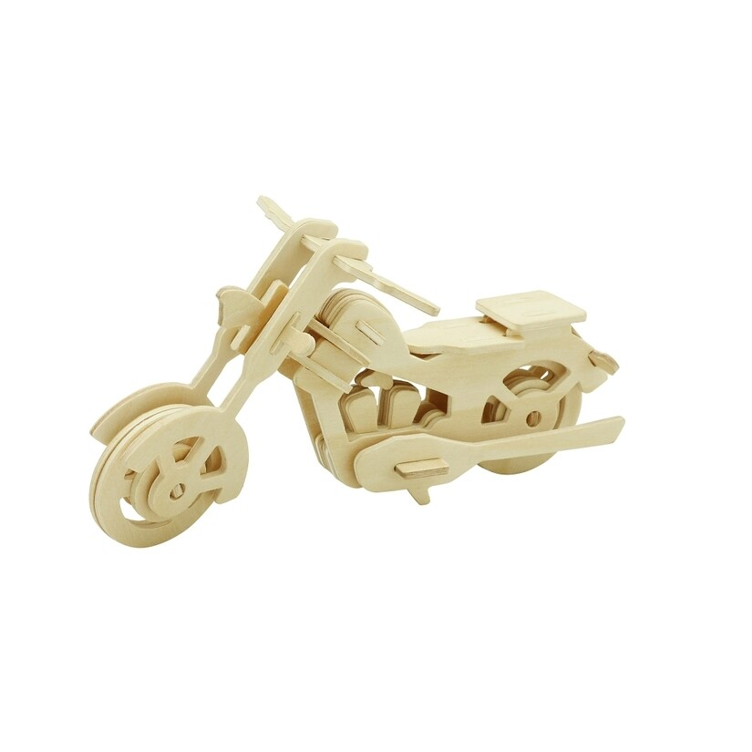 Wooden Puzzle: Motor Bike