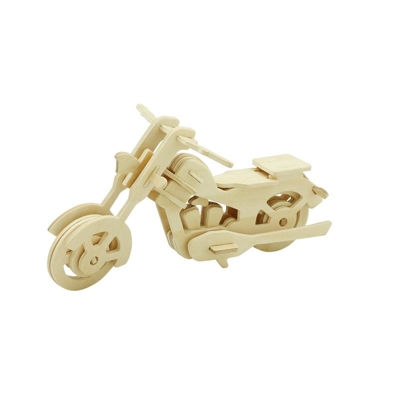 Wooden Puzzle: Motor Bike