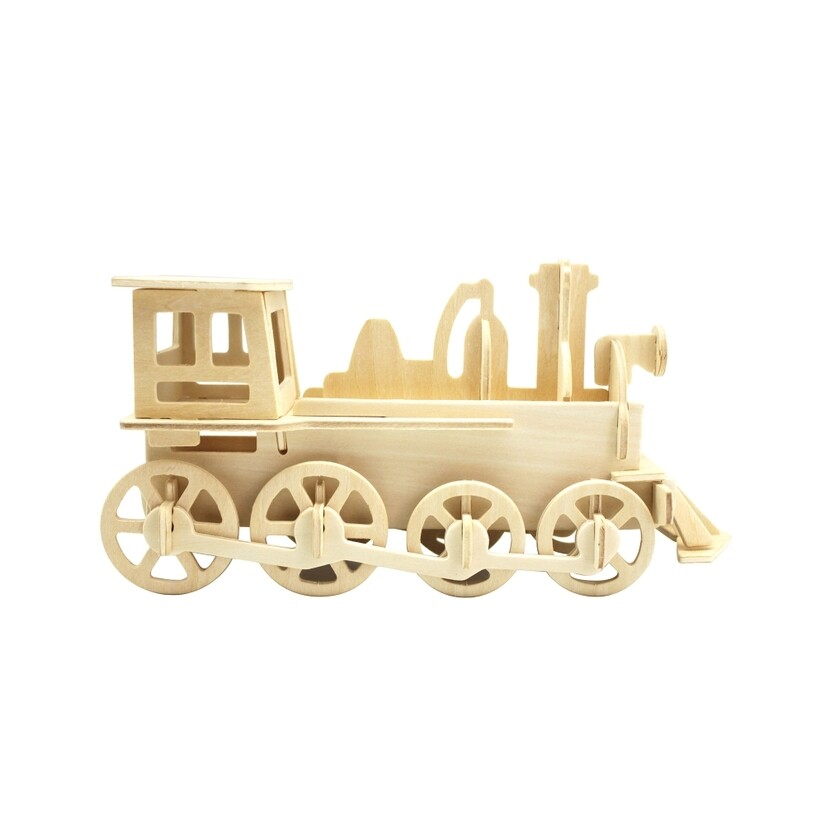Wooden Puzzle: Train Engine