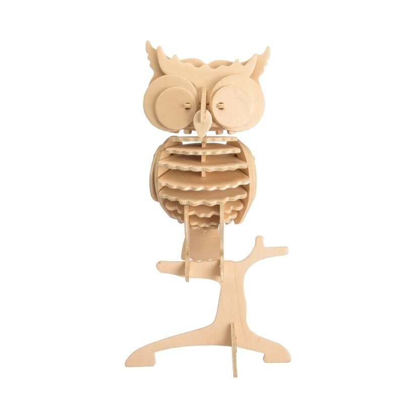 Wooden Puzzle: Owl