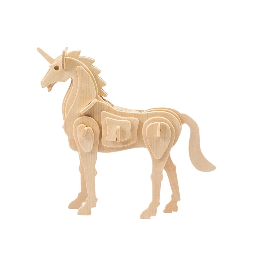 Wooden Puzzle: Unicorn